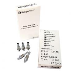 Résistances (x5) Dual Coils - kangertech Résistance Kangertech