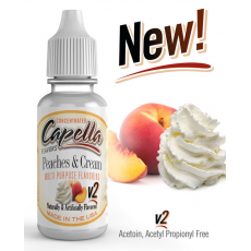 Arôme concentré Peaches and Cream v2 Capella Flavor 13ml  Arômes Capella Flavors Concentrated