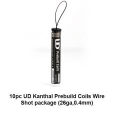 10 Coils Préparé kanthal 1 ohm Clapton Wire Shot (26ga,0.4mm) - Youde