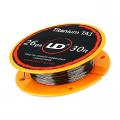Titanium TA1 - 10 m - Youde (UD)  Fil résistif Fil non résistif / Fibre et Coton