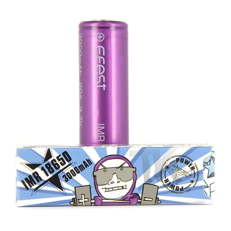 Accu IMR 35A 18650 3000 mAh Efest Purple