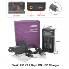 Chargeur d'accus LUC V2 - Efest  Accessoires / Chargeurs Pour Batteries