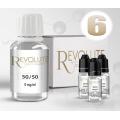 KIT 100 ml - shooters nicotine 6 mg/ml DIY - 50 % PG 50 % VG - REVOLUTE - TPD-READY