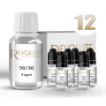 KIT 100 ml shooters nicotine 12 mg/ml DIY - 50 % PG 50 % VG - REVOLUTE