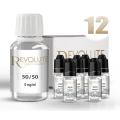 KIT 100 ml shooters nicotine 12 mg/ml DIY - 50 % PG 50 % VG - REVOLUTE - TPD-READY