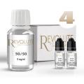 Pack E-Liquide DIY 100 ml 4 mg/ml 50/50 - REVOLUTE Bases pour faire son e-liquide de cigarette électronique