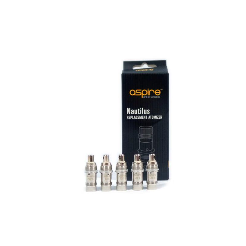 Pack de 5 résistances 1.8 Omh Aspire Nautilus BVC