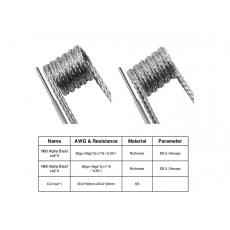 N80 Alpha Braid 2 EN 1 (X8) - GEEK VAPE Fil résistif Fil non résistif / Fibre et Coton7,80€