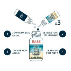 Pack E-Liquide DIY 200 ml 3 mg/ml Easy2Mix 50/50 - Supervape Bases pour faire son e-liquide de cigarette électronique