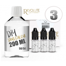 KIT 200 ml - 3 mg/ml de nicotine avec booster - DIY - 50 % PG 50 % VG - REVOLUTE - TPD-READY