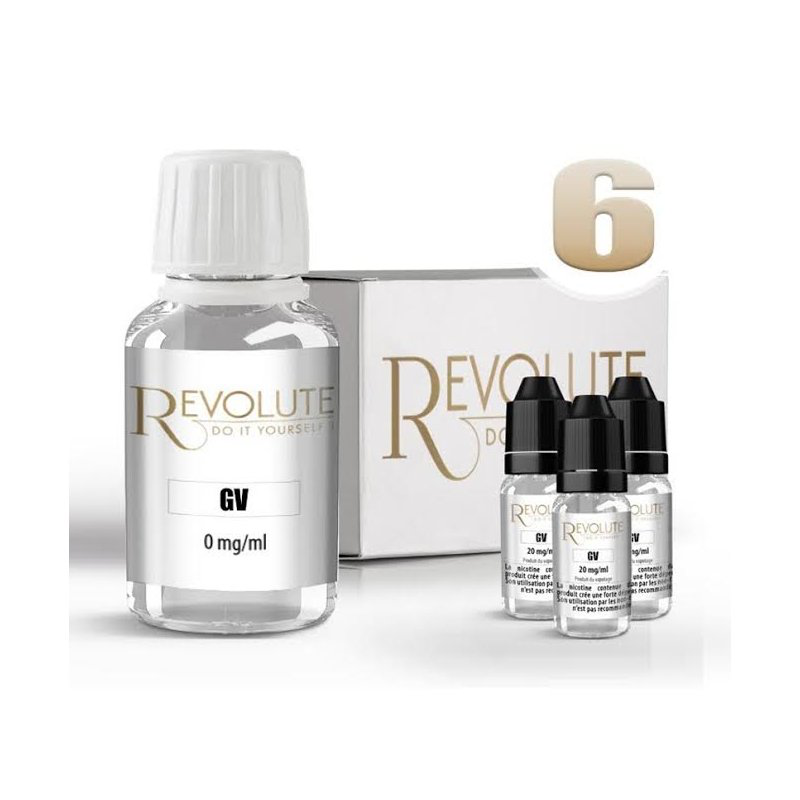 KIT 100 ml shooters nicotine 6 mg/ml DIY  -  100 % VG - REVOLUTE - TPD-READY