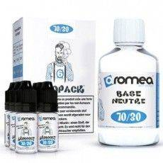 Pack Base E-Liquide 200ml 6 mg/ml Nicotine 70 % PG 30 % VG Aromea