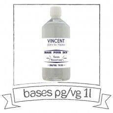 Base E-liquide DIY 1 Litre 0 mg/ml 70/30 - Vincent Dans Les Vapes Bases pour faire son e-liquide de cigarette électronique