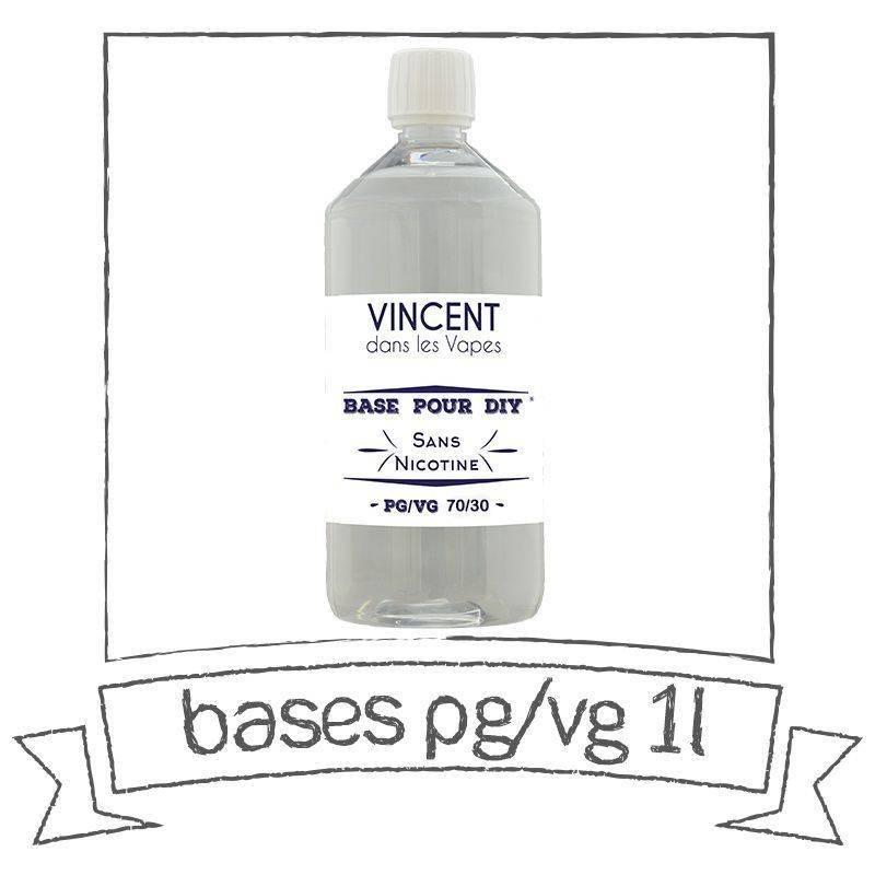 Base E-liquide 0 mg/ml 70 % PG 30 % VG 1 Litre par Vincent Dans Les Vapes