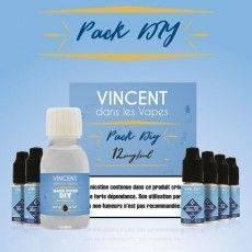 Pack E-Liquide DIY 100 ml 12 mg/ml nicotine 50/50 Vincent dans les Vapes Bases pour faire son e-liquide de cigarette électron...