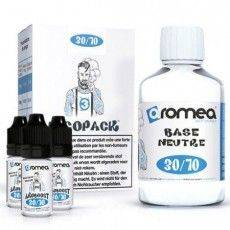 Pack Base E-Liquide 200ml 3 mg/ml Nicotine 30 % PG 70 % VG Aromea