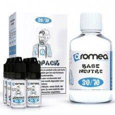 Pack Base E-Liquide 200ml 6 mg/ml Nicotine 30 % PG 70 % VG Aromea