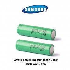 2 ACCU INR 18650 25R 2500mAh - Samsung Batteries Samsung