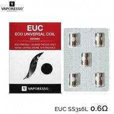 Résistance (x5) EUC Céramique Veco 0.6 ohm - Vaporesso  Resistance Vaporesso