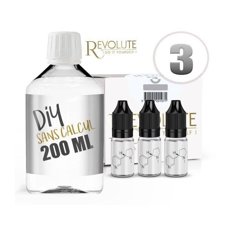 KIT 200 ml - 3 mg/ml de nicotine avec booster -  DIY - 100 % VG - REVOLUTE - TPD-READY