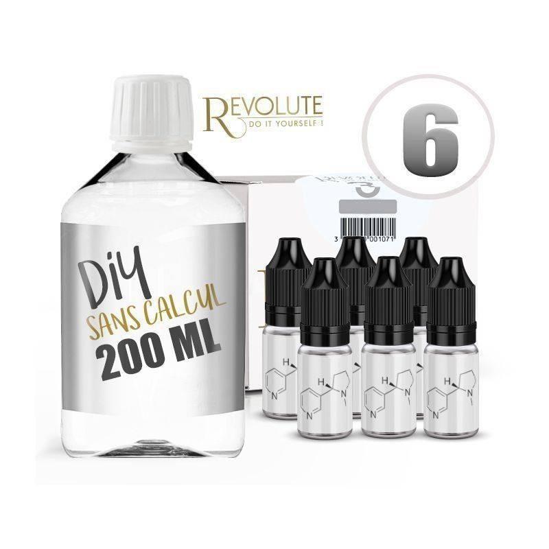 KIT 200 ml - 6 mg/ml nicotine avec booster-  DIY  -  100 % VG - REVOLUTE