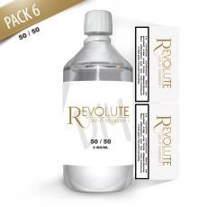 KIT 1000 ml - 6 mg/ml nicotine avec booster-  DIY  -  50 % PG 50 % VG - REVOLUTE - 1 Litre