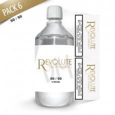 Pack E-Liquide DIY 1 Litre 6 mg/ml 50/50 - REVOLUTE Bases pour faire son e-liquide de cigarette électronique