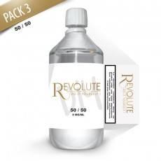 Pack E-Liquide DIY 1 Litre 3 mg/ml 50/50 - REVOLUTE Bases pour faire son e-liquide de cigarette électronique
