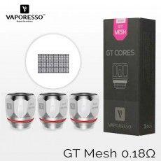 3 résistances VAPORESSO GT Meshed - 0,18 Ohm